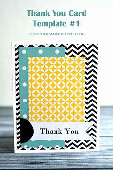 thank you card template in thank you card template 1 power up and serve