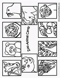 zoo animals coloring pages for kindergarten 17052 zoo animals coloring cards1 printables for free word search puzzles coloring pages