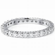 wedding ring eternity 1 00ct round natural diamond eternity wedding ring 14k