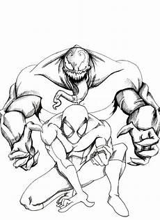Easy Venom Coloring Pages Free Printable Venom Coloring Pages For