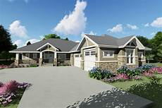 house plans angled garage downsized craftsman ranch home plan with angled garage