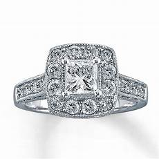diamond engagement ring 1 1 2 ct tw princess cut 14k white gold 80353915 sterlingjewelers