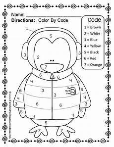 winter matching worksheets for preschoolers 20060 penguin color by number kindergarten your numbers freebie penguin coloring kindergarten