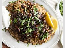 lentils and rice with caramelized onions_image