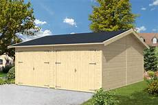 garage aus holz garage skanholz 171 mora 2 187 doppelgarage 45 mm holzgarage