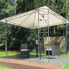 metall pavillon 3x3 m creme partyzelt gartenpavillon