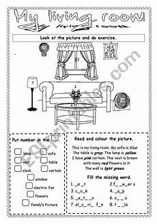 worksheets rooms 19037 my living room esl worksheet by saifonduan