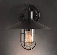 harbour sconce vintage industrial wall light tudo and co