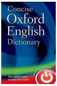 dictionary to concise oxford dictionary