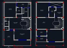 free autocad house plans dwg house space planning 25 x40 floor layout plan in 2020
