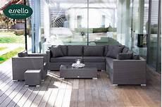 polyrattan lounge grau loungem 246 bel essella