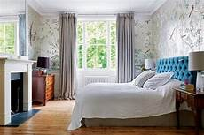 Small Terrace Bedroom Ideas by Times De Gournay Wallpaper Terrace