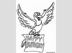 Coloriage Happy Birthday dessin