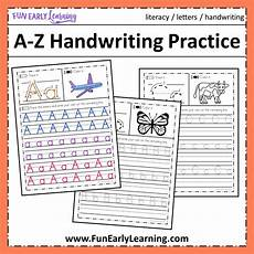 free alphabet handwriting worksheets a to z 21684 a z handwriting practice no prep worksheets for learning letters