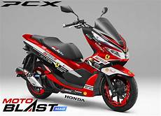 Modifikasi Pcx 2019 by Modifikasi Striping Honda Pcx 150 Motoblast