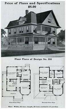 vintage victorian house plans radford 1903 queen anne prominent forward gable free