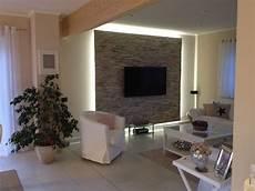 wohnzimmer tv wand ideen unsere fertige tv wand mit beleuchtung wohnzimmer ideen