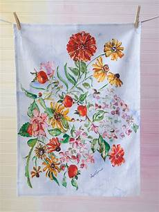 Kitchen Towel Bouquet by Zinnia Bouquet Tea Towel Kitchen Table Linens Tea