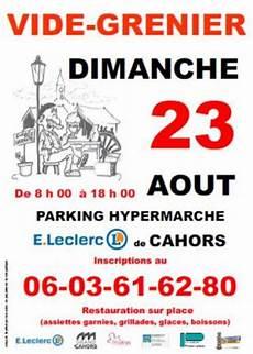 vide grenier parking de l 180 hypermarche leclerc 224 cahors de