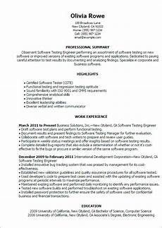 resume templates for software testing computers technology resume templates to impress any employer livecareer