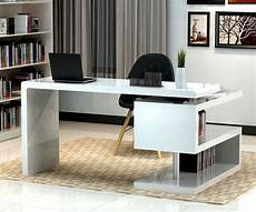 furniture desks home office stunning modern home office desks with unique white glossy
