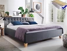 Doppelbett Mit Lattenrost - polsterbett luke 180x200 grau doppelbett ehebett