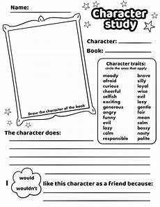 character study worksheet printable template free printable papercraft templates