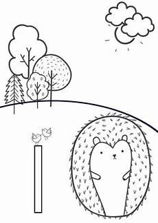 Ausmalbild Igel Einfach Ausmalbild I Wie Igel Paul La Papeterie