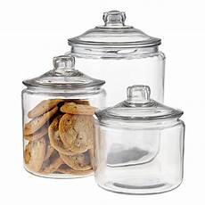 glass canister set for kitchen anchor hocking glass canisters with glass lids the