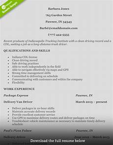 how to write a truck driver resume with exles