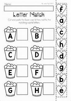 cut and paste letter worksheets for kindergarten 23464 alphabet match cut and paste worksheets education worksheets preschool