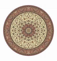 tappeto rotondo tappeto isfahan classico rotondo medaglione crema rosa 12217