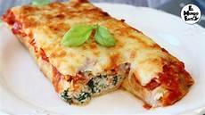 Cannelloni Spinat Ricotta - ricotta and spinach crepe cannelloni