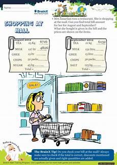 worksheets shopping 18462 shopping at mall math worksheet for grade 3 free printable worksheets