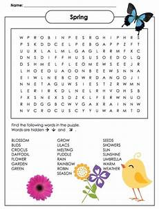 spring word search puzzle printable jinxy kids