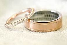 rose gold engagement rings wedding rings