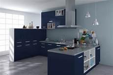 meuble cuisine bleu cuisine platine bleu nuit nacre cuisines design