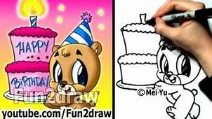 Cute Easy Birthday Things To Draw  YouTube