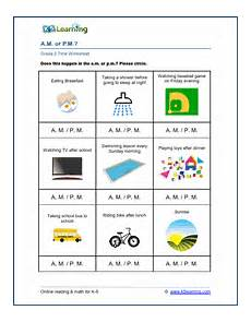 telling time worksheets using am and pm 3220 grade 2 time worksheet am and pm k5 learning
