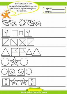 shapes space and patterns worksheets for grade 4 reflective symmetry pattern worksheets by