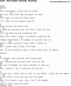 carol song lyrics with chords for last