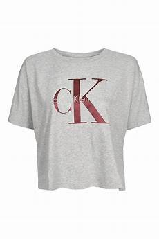 cropped t shirt by calvin klein topshop