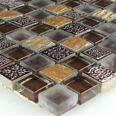 mosaik fliesen glas naturstein gold braun ebay