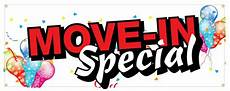 Apartment Rent Specials by Move In Special Banner Storage Rental Apartment Home Sign