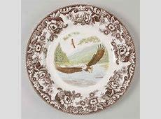 Spode WOODLAND Bald Eagle Dinner Plate 8593224   eBay