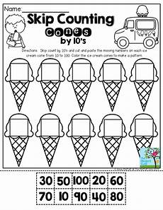 kindergarten math skip counting worksheets 11947 summer review packets with images math counting counting by 10 numbers preschool