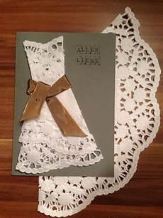 Karte Hochzeitskleid Tortenspitze Karten