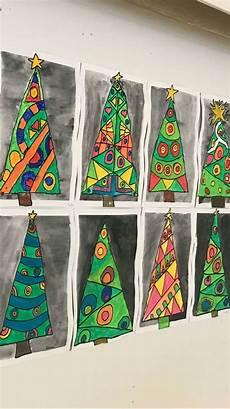 beautiful trees weihnachten kunst grundschule