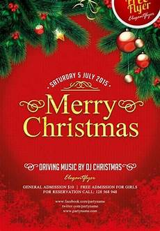 merry christmas free psd flyer template download for photoshop