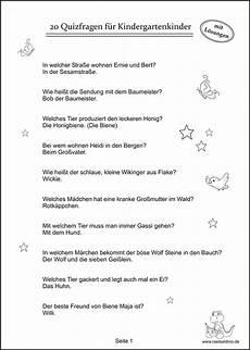 Lustige Malvorlagen Quiz Quizfragen F 252 R Kindergartenkinder